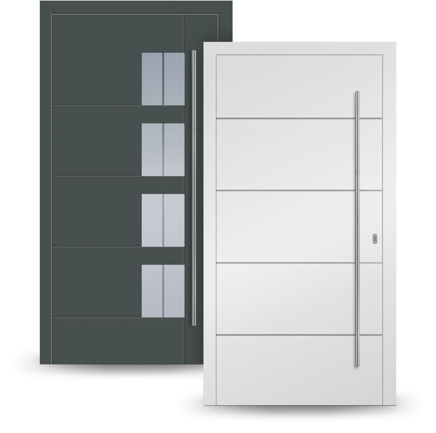 Kunststoff-Haustüren, Alu-Haustüren
