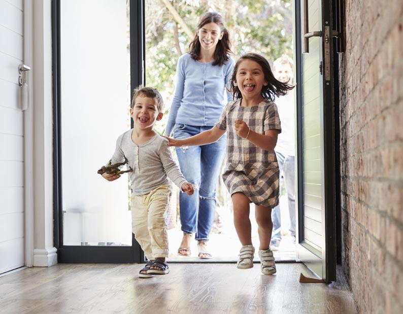 Sichere Haustüren für die Familie